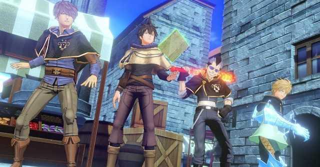 black clover quartet knights gameplay