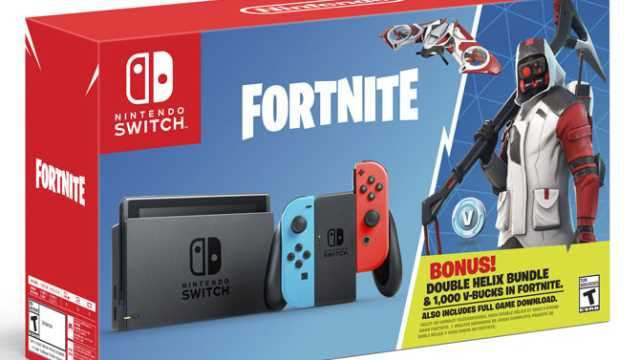 Nintendo Switch Fortnite Double Helix Bundle Includes V Bucks And Exclusive In Game Content