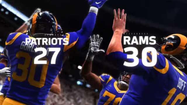 dd57e822 MADDEN NFL 19 Predicts LA Rams To Defeat New England Patriots In ...