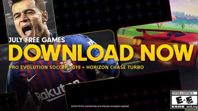 PES 2019 And HORIZON CHASE TURBO Are July's Free PlayStation Plus