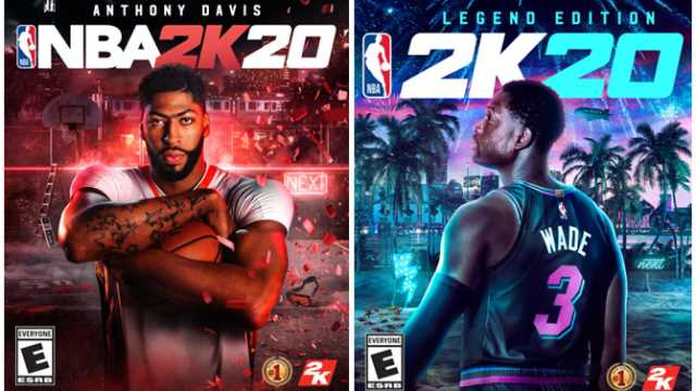 NBA 2K20 Names Anthony Davis And Dwyane Wade As This Year's Cover Athletes