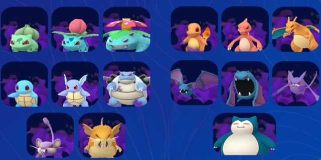 Here Is The Full List Of Current Shadow Pokémon Available To
