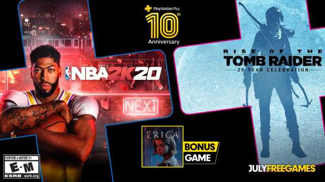 RISE OF THE TOMB RAIDER, NBA 2K20, & ERICA Are Now Available For Free With PlayStation Plus