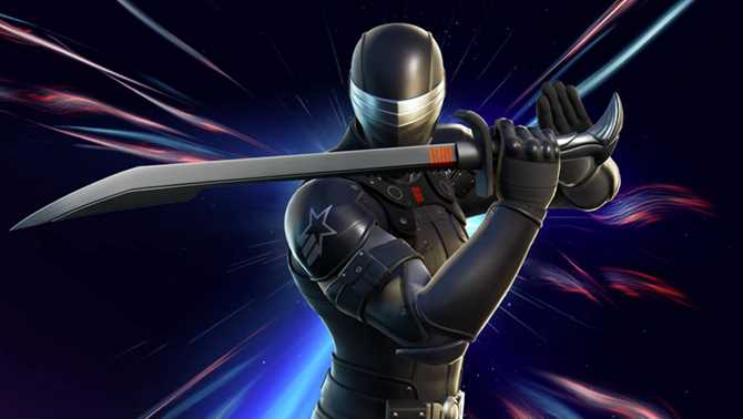 G.I. JOE's Snake Eyes Slices His Way Into FORTNITE; Hasbro To Release Special 6-Inch Figure
