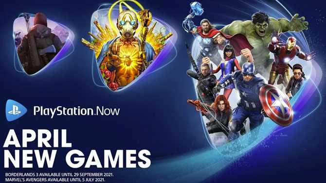 PlayStation Now Adds MARVEL'S AVENGERS And BORDERLANDS 3 To Sony's Subscription Gaming Service
