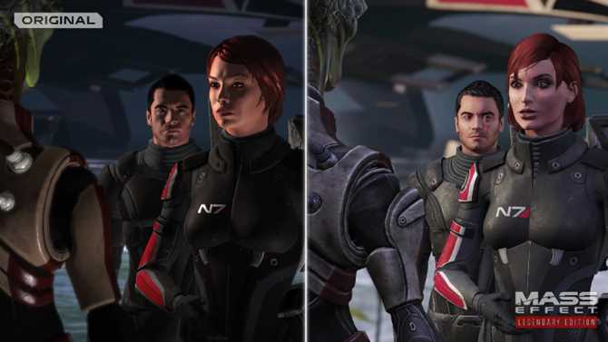 MASS EFFECT LEGENDARY EDITION Remastered Comparison Trailer Shows Off Massive Visual Improvement