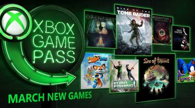 SEA OF THIEVES, RISE OF THE TOMB RAIDER, And More Join Xbox Game Pass In March