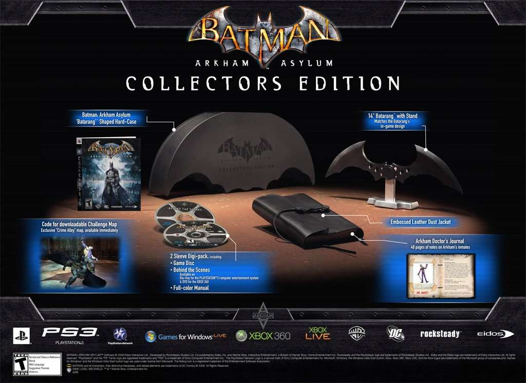 Batman: Arkham Asylum Collector's Edition Items