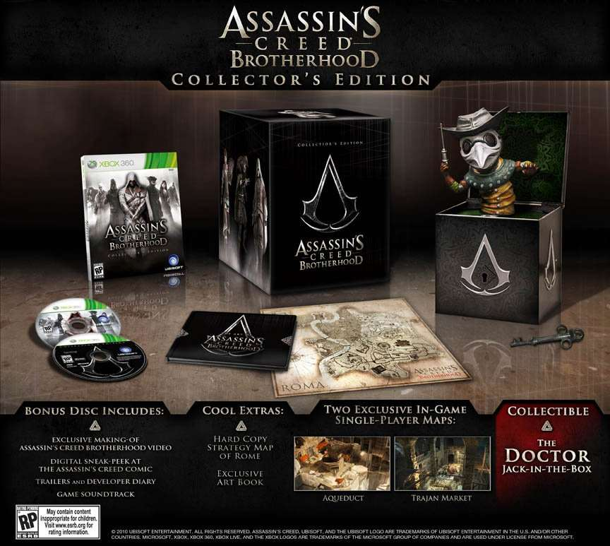 Assassin's Cred Brotherhood Collector's Edition (Doctor)
