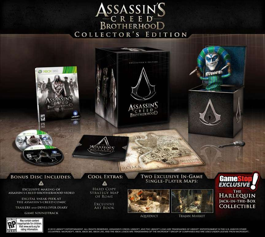 Assassin's Cred Brotherhood Collector's Edition (Harlequin)