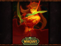 Official WoW - Burning Crusade Wallpaper: Blood Elf Female