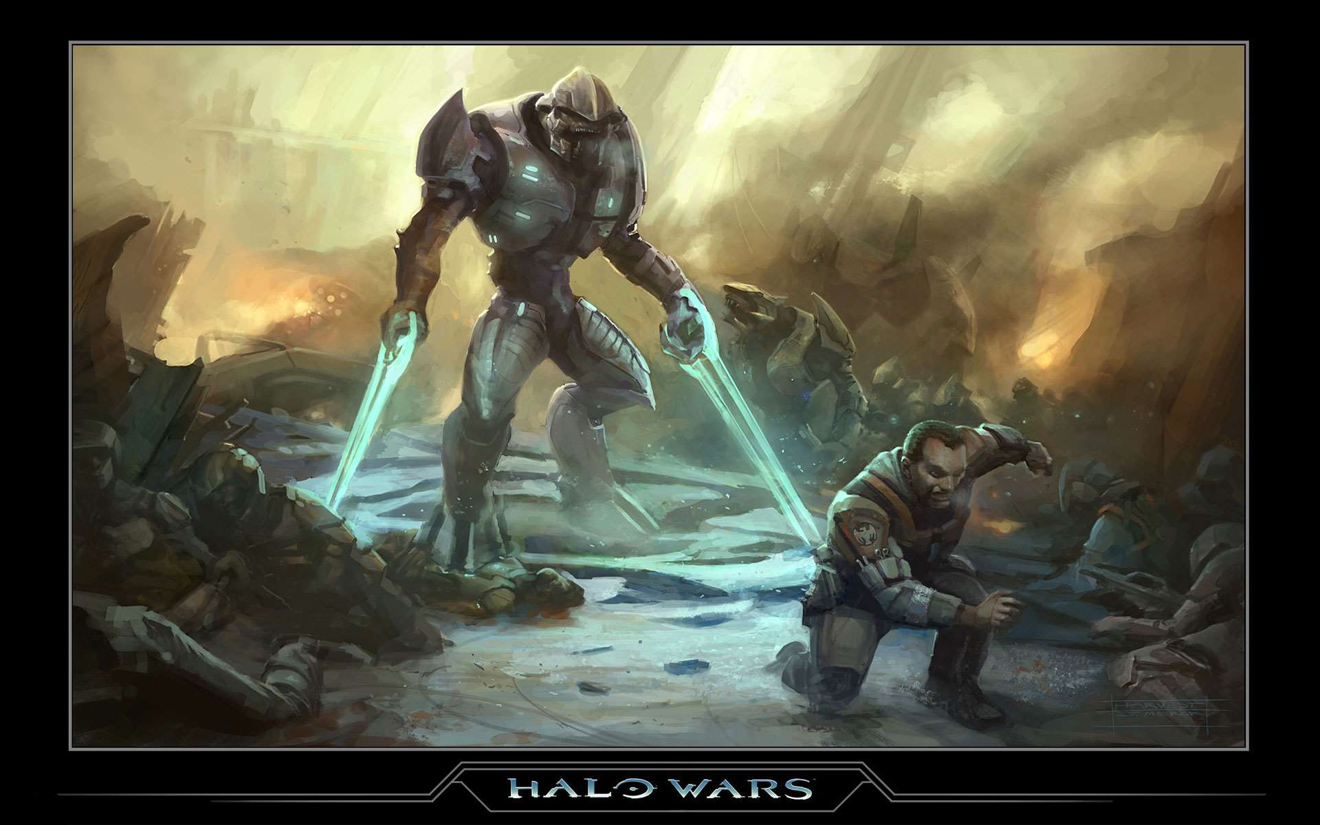 Official Halo Wars Wallpaper Concept 2