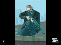 Official Grand Theft Auto IV Character Wallpaper: Sniper