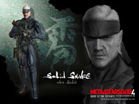 Official MGS4 Solid Snake Wallpaper