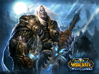Official WoW - Wrath of the Witch King Wallpaper: Death Knight Arthas