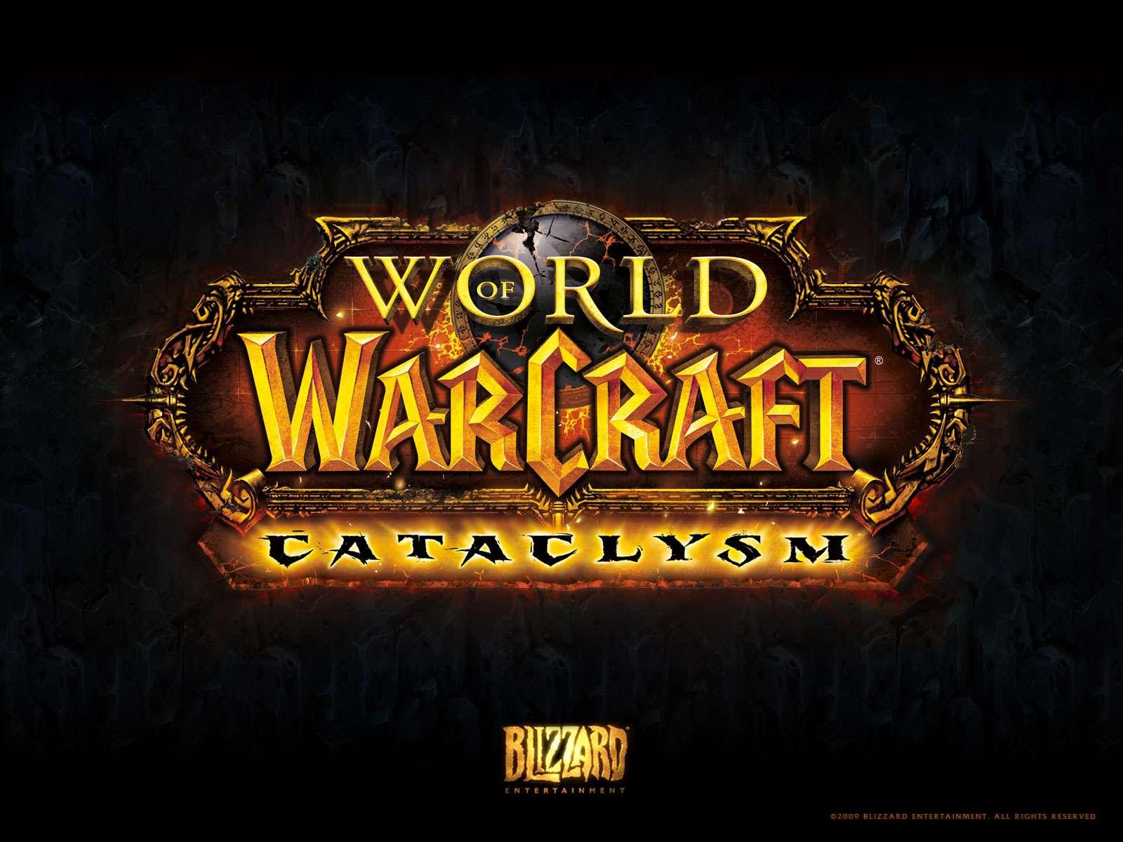 World Of Warcraft Wow Cataclysm Wallpaper Logo Wallpaper