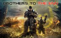 Gears of War 3 Wallpaper - Brothers To The End (Yellow Omen)